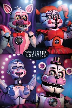 Juliste Five Nights at Freddy's - Sister Location Quad