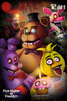 Juliste  Five Nights At Freddys - Group