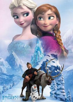 Juliste Frozen: huurteinen seikkailu - Collage