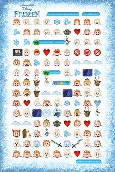 Juliste  Frozen: huurteinen seikkailu - Told by Emojis