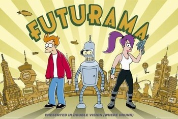 Juliste  FUTURAMA - double vision