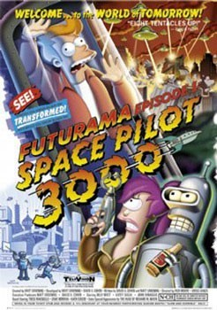 Juliste  FUTURAMA - space pilot 3000