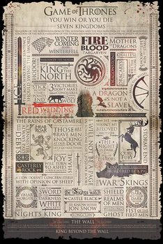 Juliste  Game of Thrones - Infographic