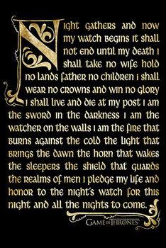 Juliste Game of Thrones - Night's watch