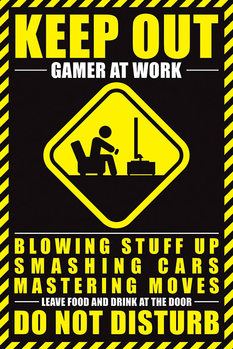 Juliste  Gamer At Work