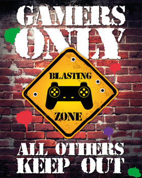 Juliste Gamers Only - Controller Keep Out
