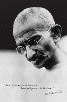 Juliste Gandhi - live forever