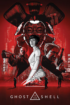 Juliste  Ghost In The Shell - Red
