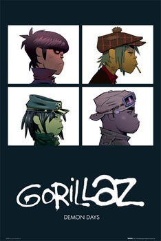 Juliste  Gorillaz - demon days