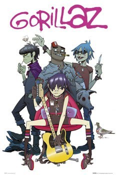 Juliste  Gorillaz - swift pigeon
