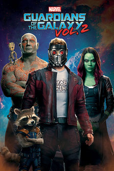 Juliste  Guardians Of The Galaxy Vol. 2 - Characters In Space