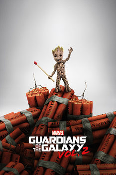 Juliste Guardians Of The Galaxy Vol. 2 - Groot Dynamite