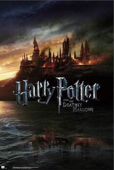 Juliste Harry Potter - Burning Hogwarts