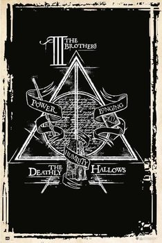 Juliste  Harry Potter - Deathly Hallows Symbol