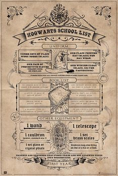 Juliste  Harry Potter - Hogwarts School List