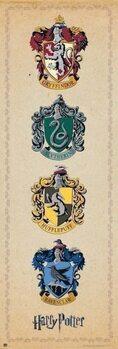 Juliste Harry Potter - House Crests