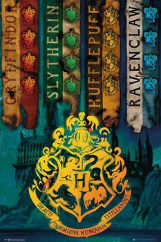 Juliste  Harry Potter - House Flags