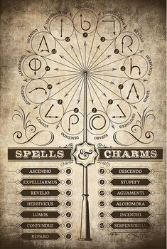 Juliste Harry Potter - Spells and Charms