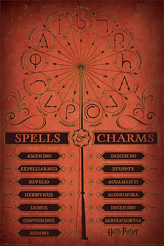 Juliste  Harry Potter - Spells & Charms