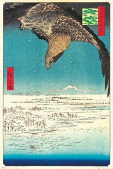 Juliste Hiroshige - Jumantsubo Plain at Fukagawa