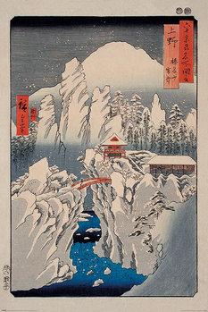 Juliste Hiroshige - Snow on Mount Haruna