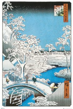 Juliste Hiroshige - The Drum Bridge