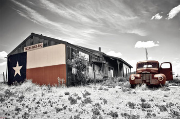 Juliste Historic 66 diner - texas barbeque