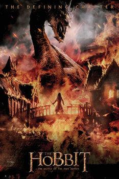 Juliste Hobitti 3: Viiden armeijan taistelu - lohikäärme