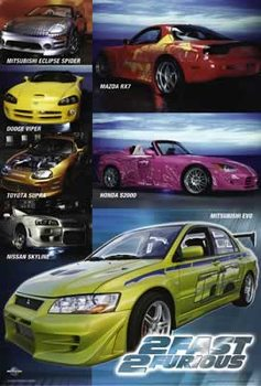 Juliste Hurjapäät 2 - Poster Collage Cars
