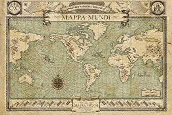 Juliste Ihmeotukset ja niiden olinpaikat - Map