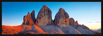 Juliste Italia - Dolomity, Saas Rigais západ slunce