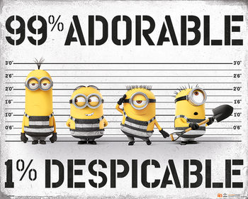 Juliste  Itse ilkimys 3 - 99% Adorable 1% Despicable