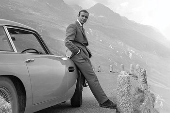 Juliste James Bond - Connery & Aston Martin