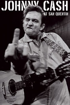 Juliste Johnny Cash - san quentin portrait