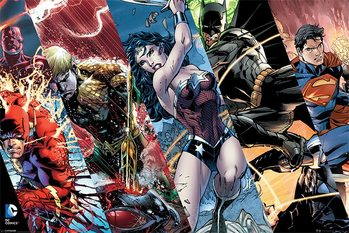 Juliste Justice League - Heroes