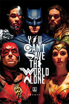 Juliste  Justice League Movie - Save The World)