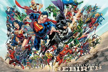 Juliste  Justice League - Rebirth