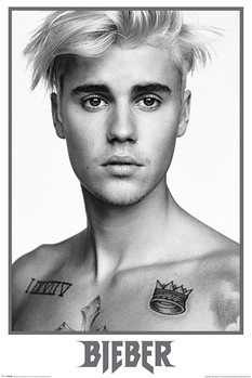 Juliste Justin Bieber - Bieber Black and White