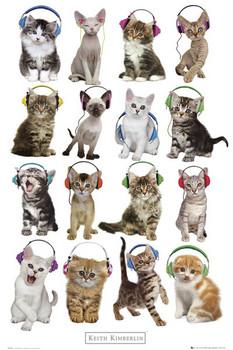 Juliste Keith Kimberlin - kittens headphones