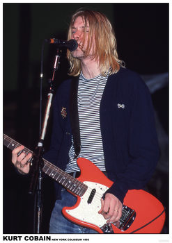 Juliste  Kurt Cobain / Nirvana - New York Coliseum 1993