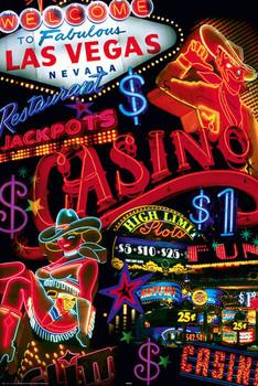Juliste Las Vegas - casino signs