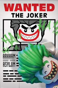 Juliste Lego Batman - Wanted The Joker