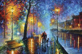 Juliste Leonid Afremov - Romantic Couple
