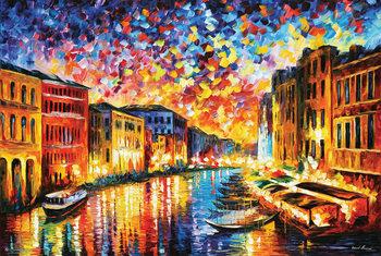 Juliste Leonid Afremov - Venice Grand Canal
