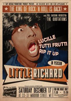 Juliste Little Richard Flamingo - Club Wardour St