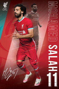 Juliste Liverpool FC - Salah 20/2021 Season