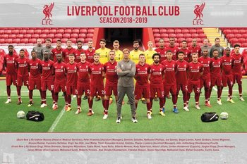 Juliste  Liverpool FC - Team Photo 18-19