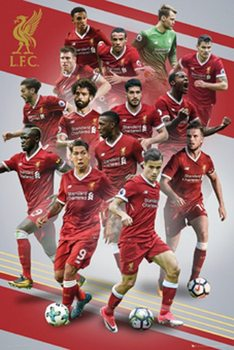 Juliste Liverpool - Players 17/18