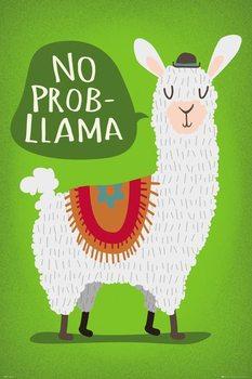 Juliste  Llama - No Probllama