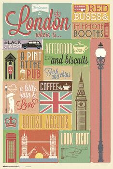Juliste London - Collage